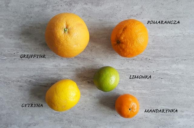 owoce tropikalne cytrusy