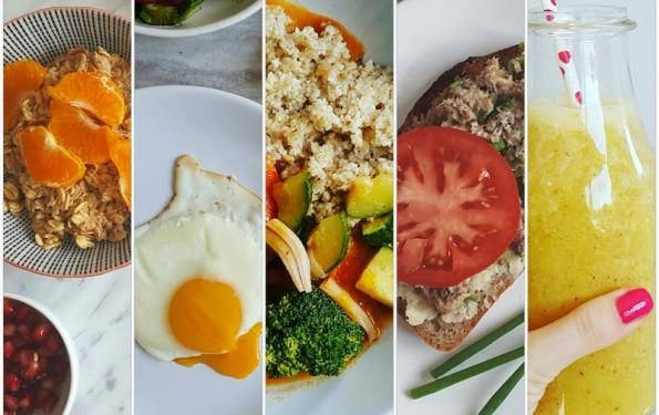 pięć zdrowych posiłków dziennie