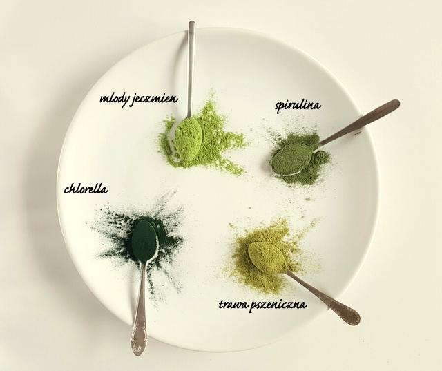 zielone w proszku