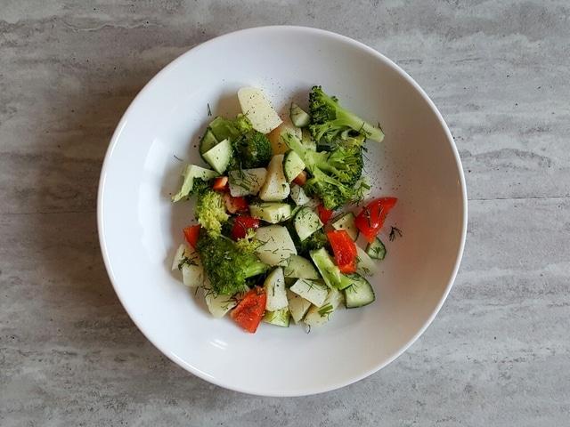 ziemniaki z brokułami