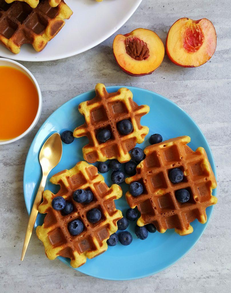 śniadanie na słodko gofry
