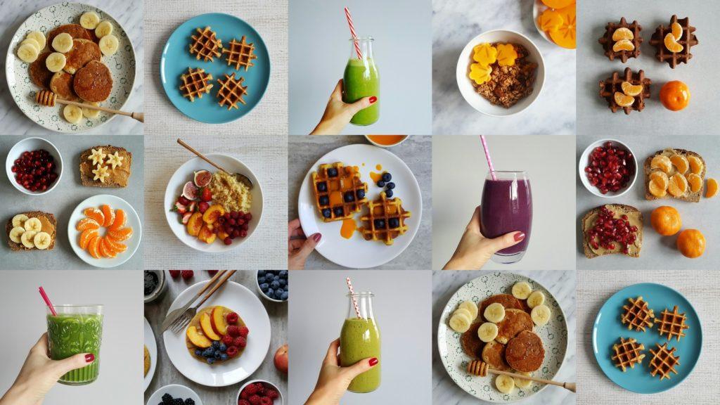 śniadanie na słodko kolaż