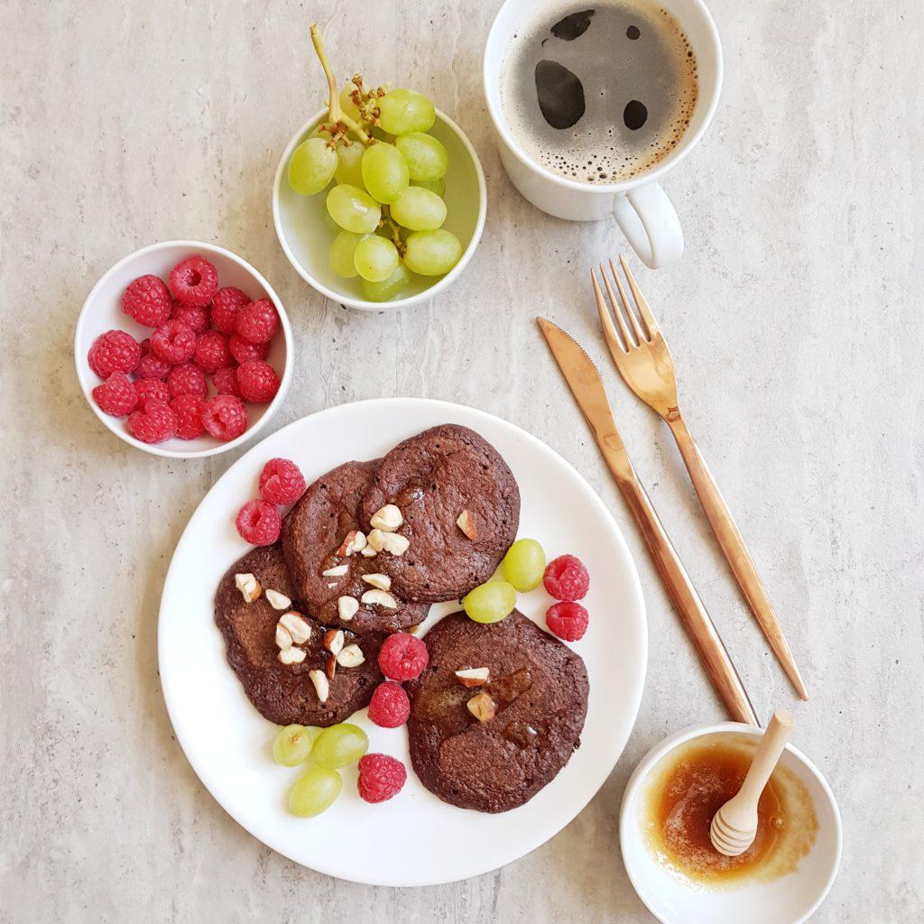 kakaowe placuszki owsiane