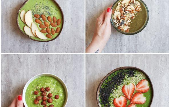 zielone smoothies z jarmużem