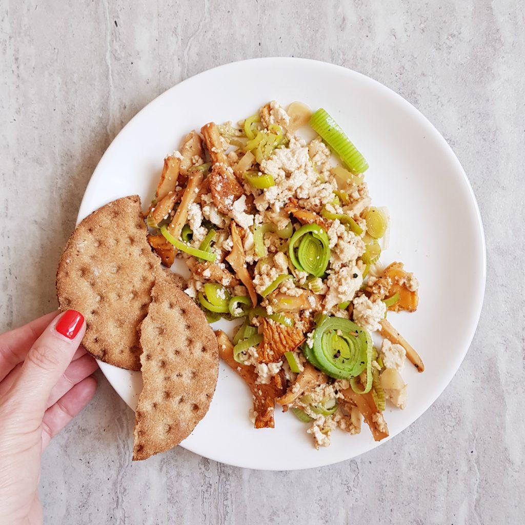 tofu z kurkami