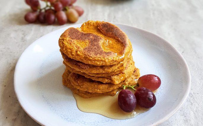 Dyniowe pancakes bok
