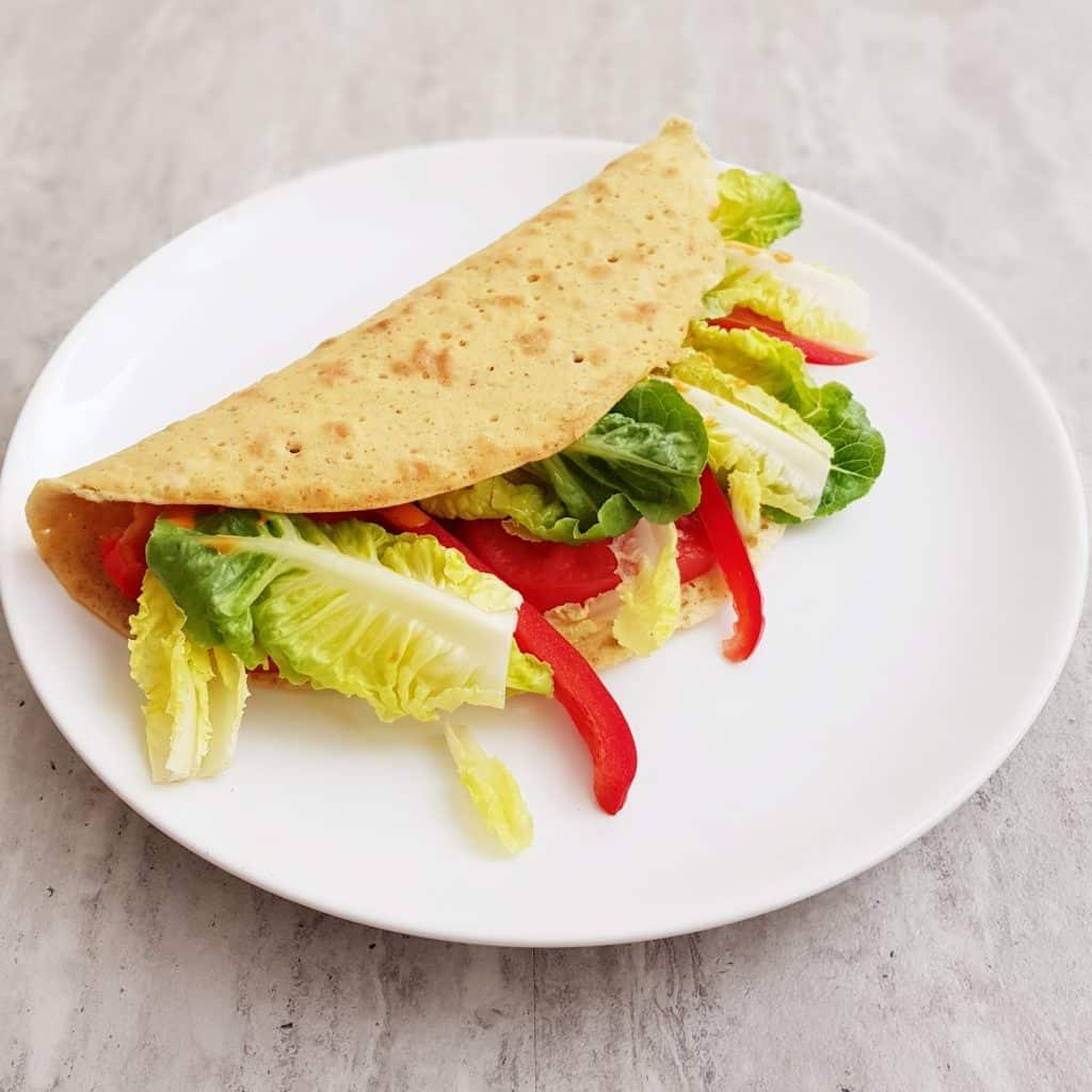 wegańskie naleśniki kukurydziane wytrawne