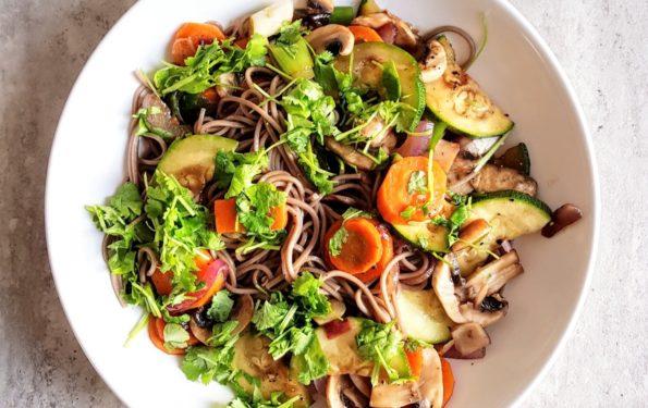 krótko smażone warzywa