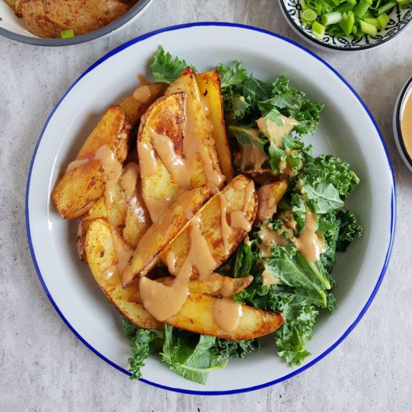 ziemniaki z sosem z miso