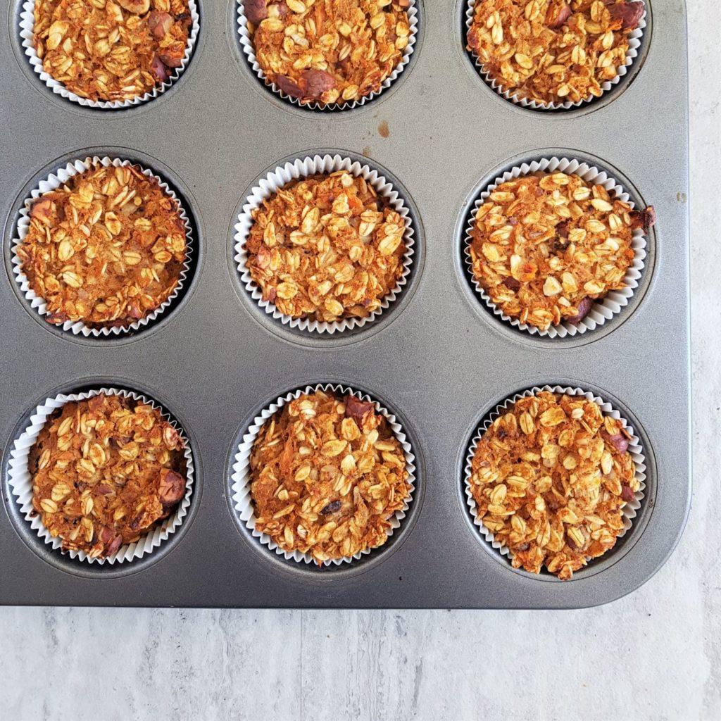 muffiny owsiane z marchewką