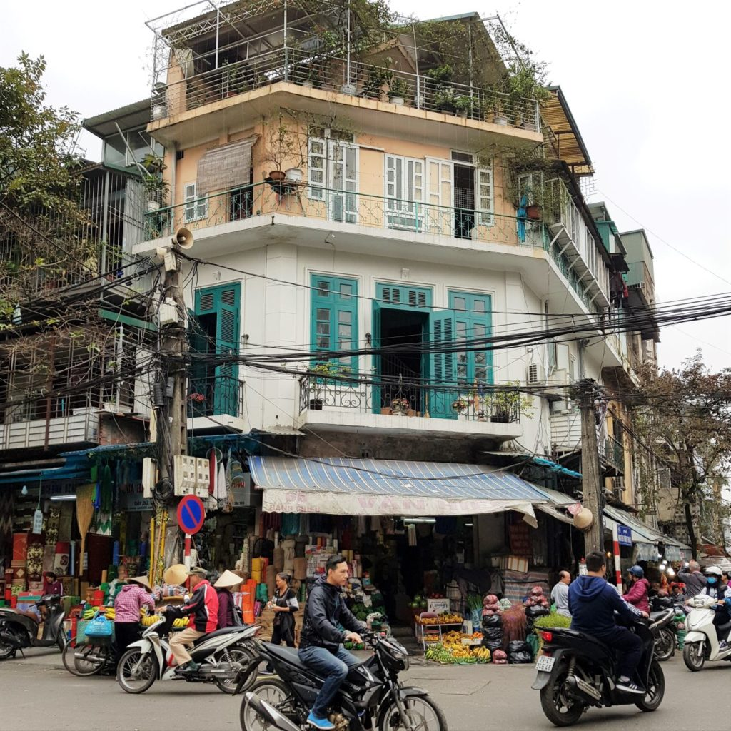 kolonialna architektura Hanoi