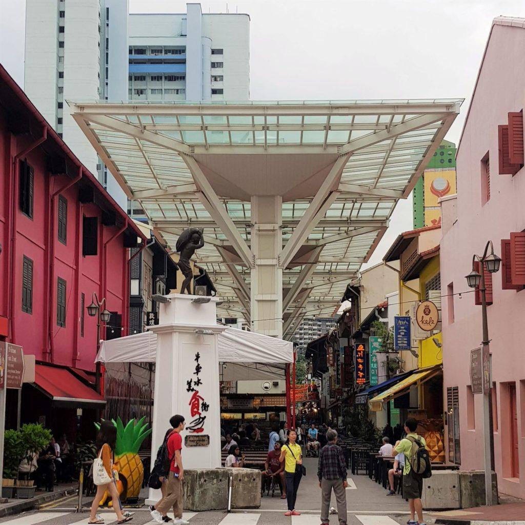 Uliczka China Town w Singapurze