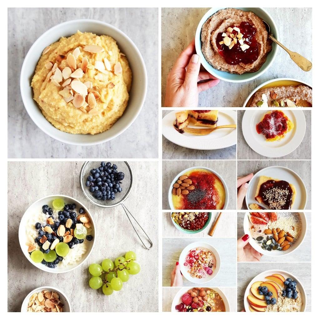 zbożowe śniadanie kolaż