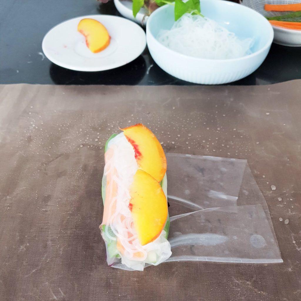 spring rolls brzoskwinia