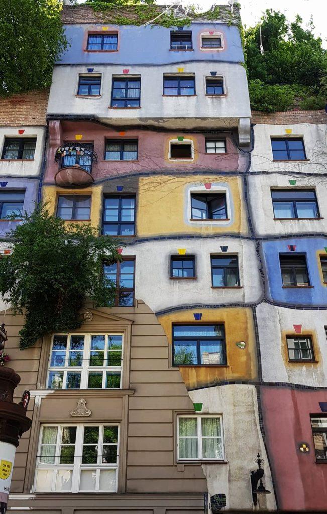 kolorowe domki w Wiedniu