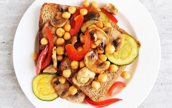 tosty z warzywami