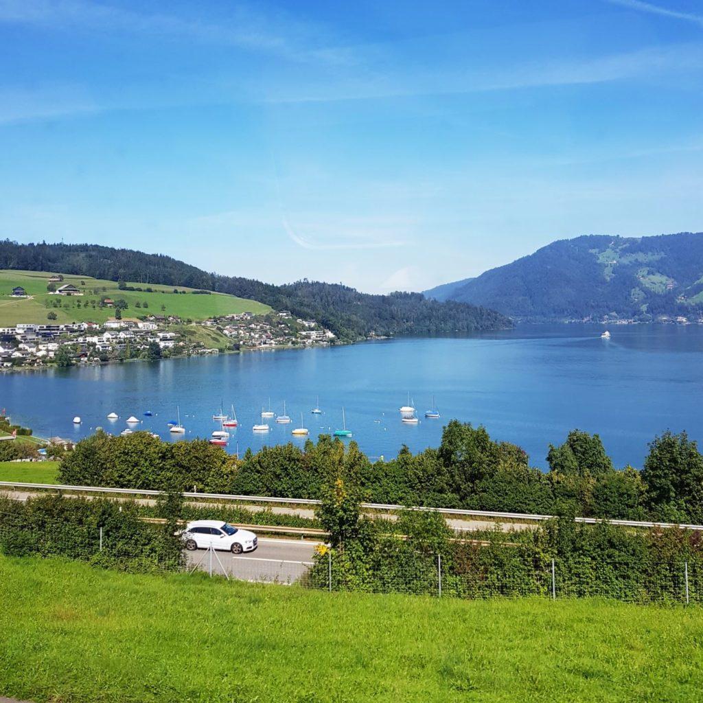 2 dni w Lugano - widoki z pociągu