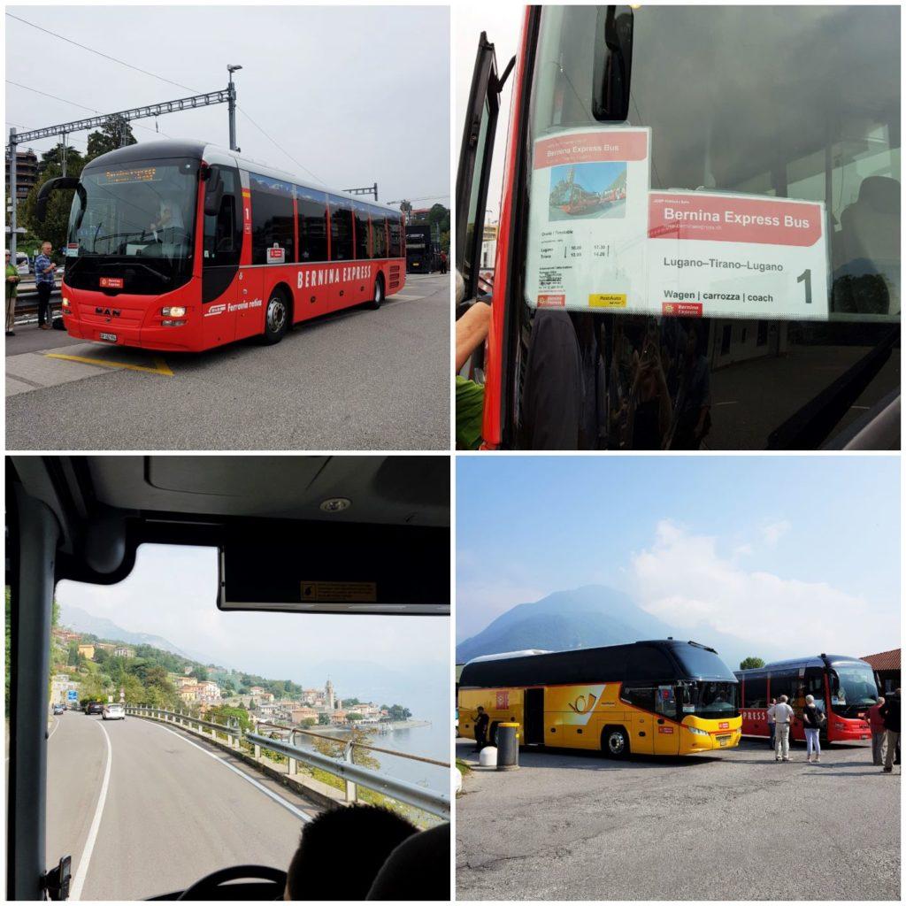 autobus z Lugano do Tirano