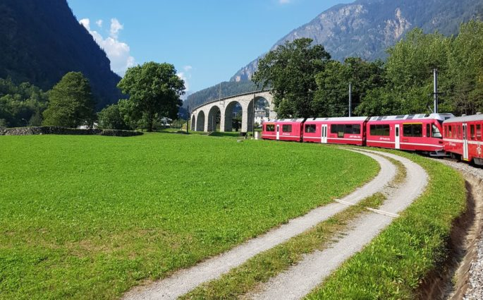 pociągiem po Szwajcarii