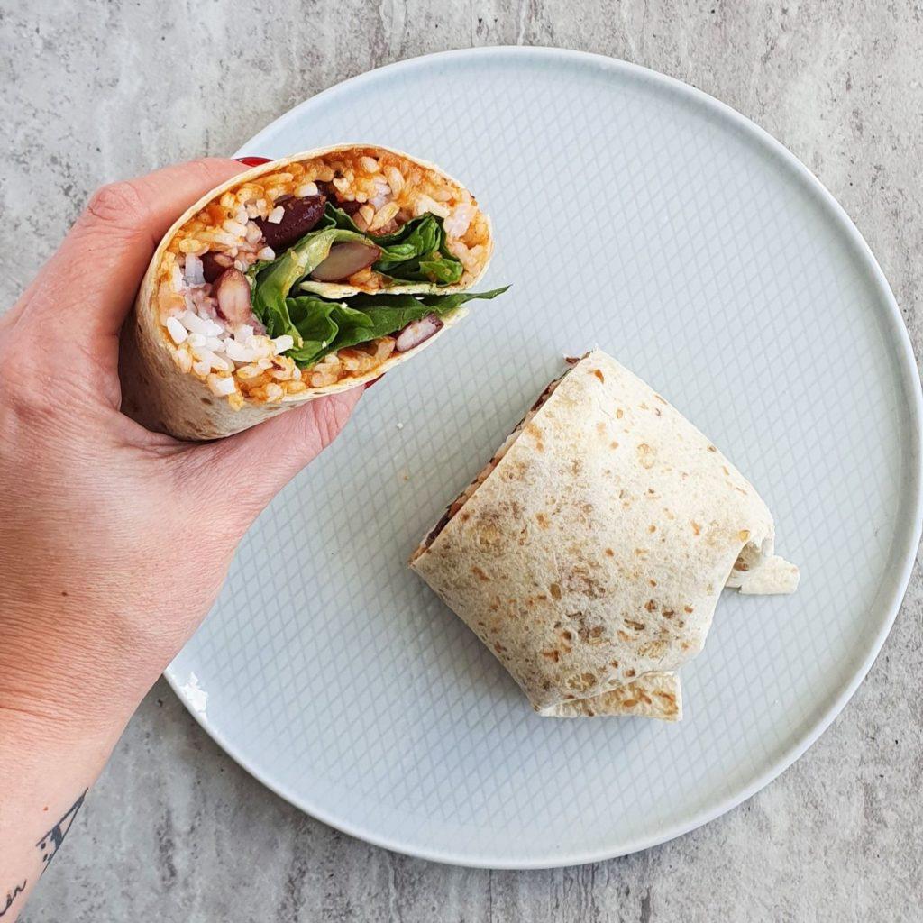 warzywne burrito z fasolą