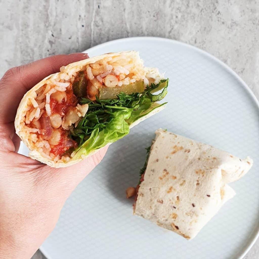 warzywne burrito zwijane