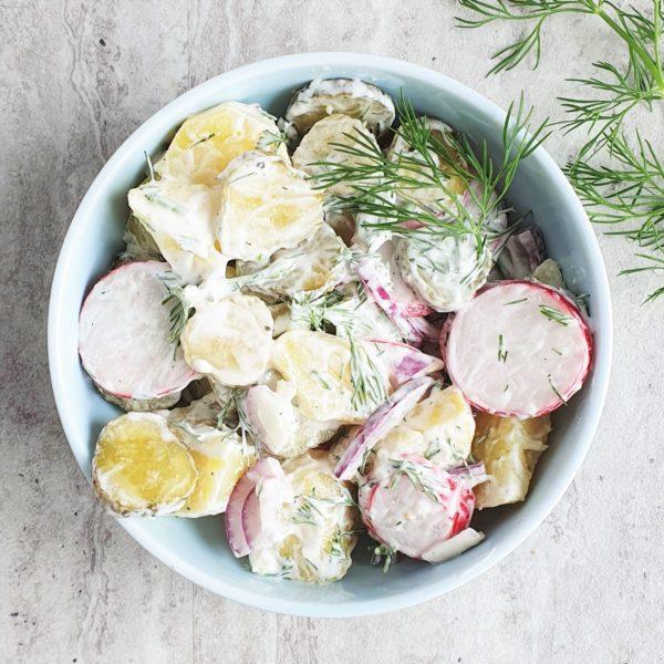 wiosenna sałatka z ziemniakami