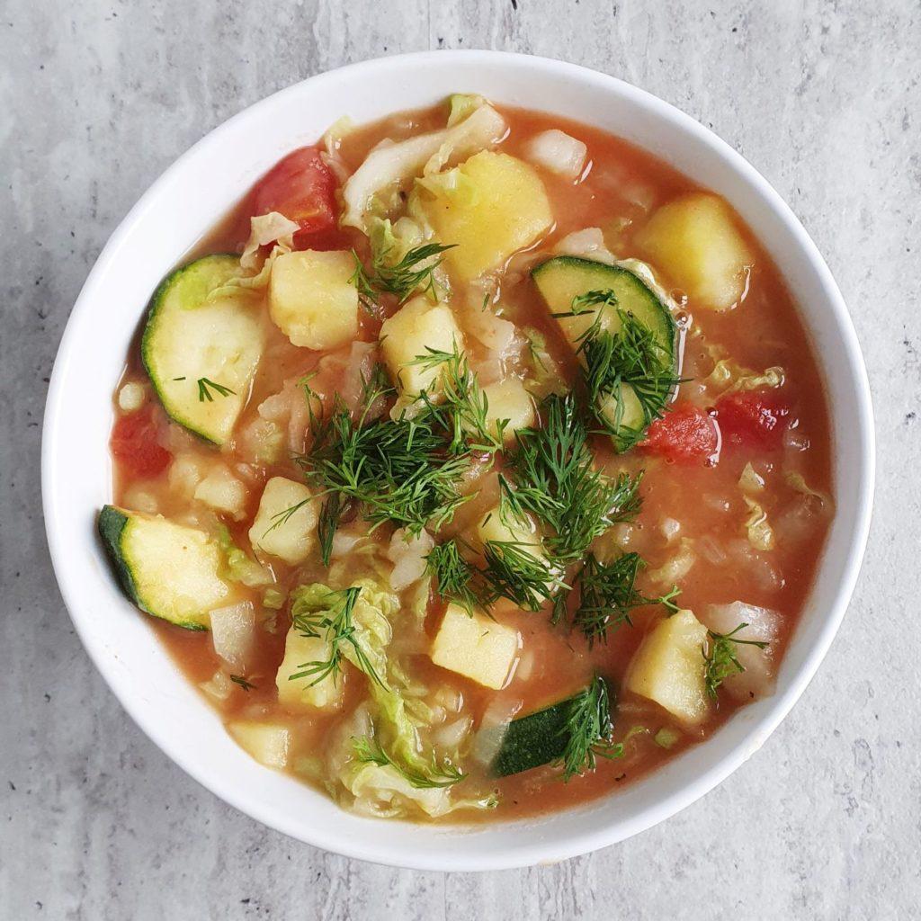 Duszone warzywa na lekką kolację