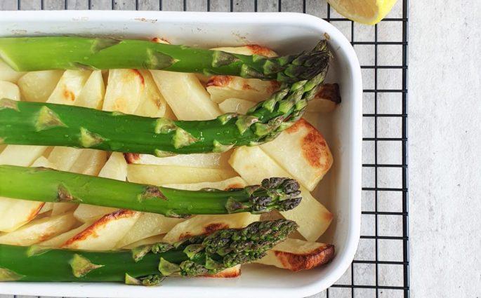 szparagi pieczone z ziemniakami