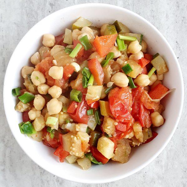 Bakłażan z warzywami