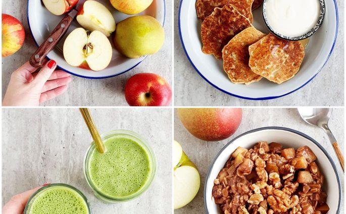 Trzy szybkie śniadania z jabłkami w roli głównej