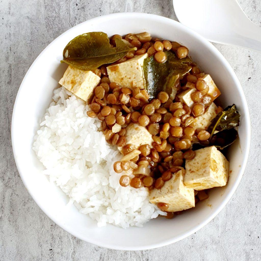 dania z tofu - curry