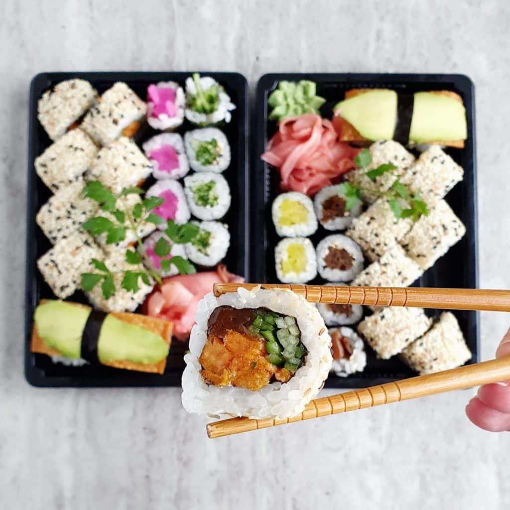 Ulubione z dostawą do domu - vege sushi