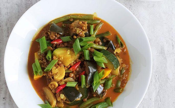 Warzywne curry z bakłażanem