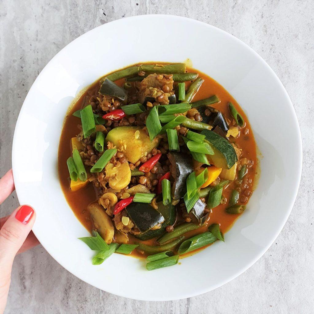 curry ze szczypiorkiem