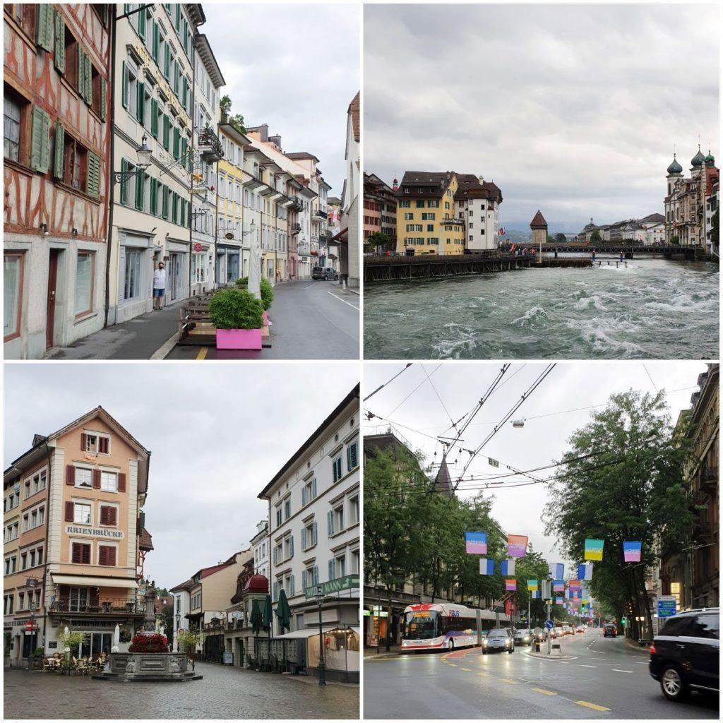 deszczowy poranek w Lucernie
