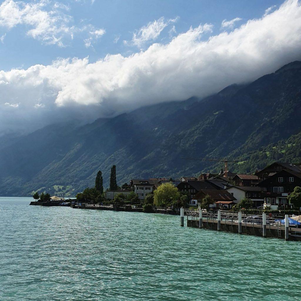 statkiem w stronę Interlaken